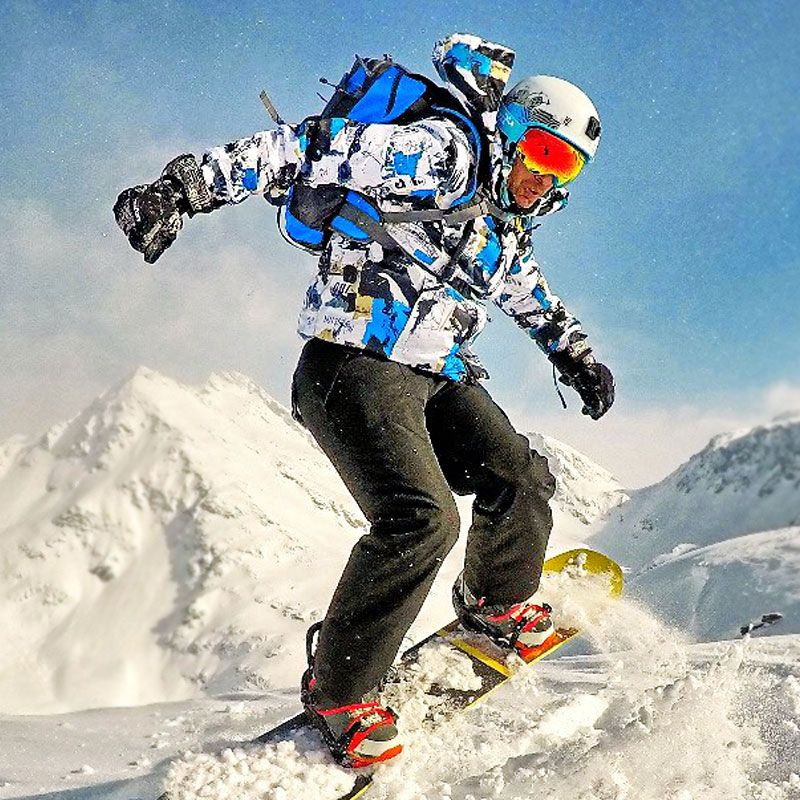 Ski suit men's winter warm and windproof waterproof outdoor sports snow sports hot brand ski equipment ski jackets and pants.