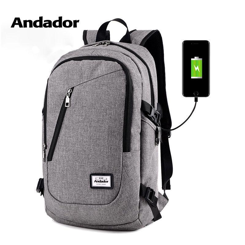 Mode homme sac à dos pour ordinateur portable usb charge ordinateur sacs à dos style décontracté sacs grand homme d'affaires voyage sac à dos