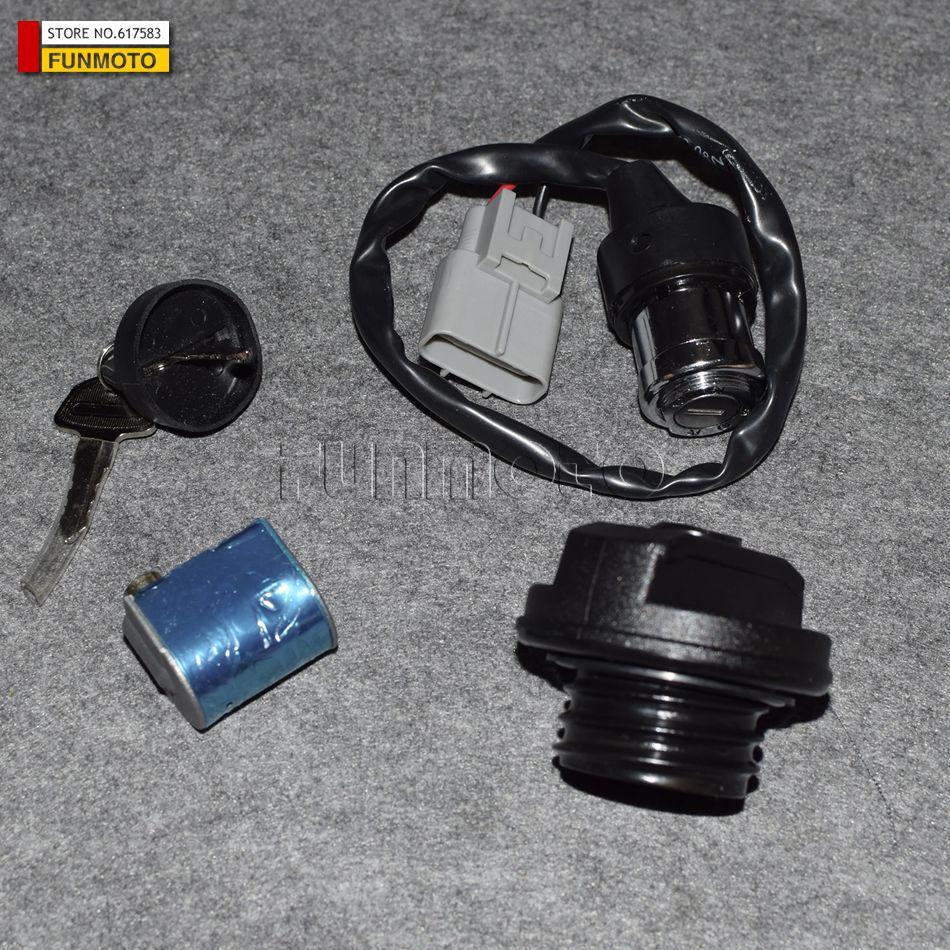 CFX8 CF800 CFMOTO Key Switch Ignition key 800CC lock fuel tank lock petrol tank switch cf moto CF800-2(x8) 7020-010100