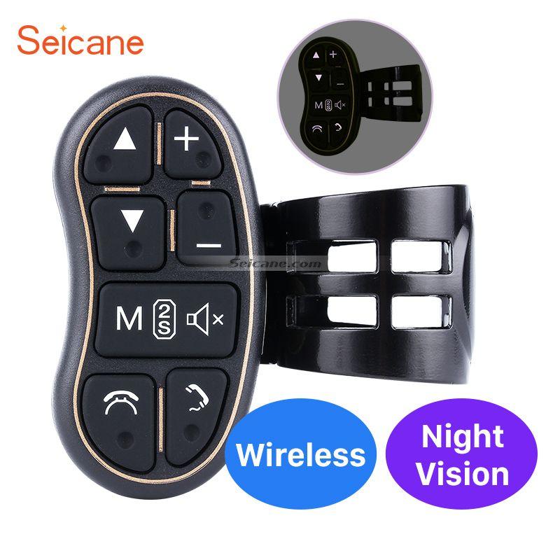 Car universal multifunctional wireless steering wheel controller for Car DVD player radio GPS navigation system