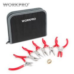 Workpro 7 PC Perhiasan Tang Mini Pliers Set Perhiasan Perbaikan Alat Kit
