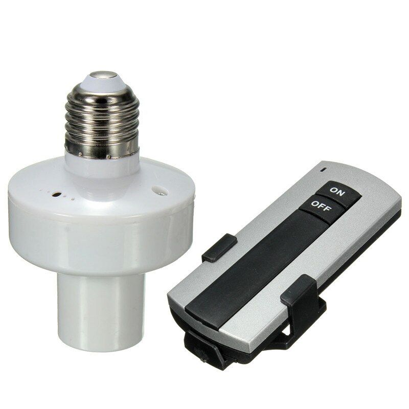 Wholesale Durable E27 Screw Wireless Remote Control Light Lamp Bulb Holder Cap Socket Switch New On Off
