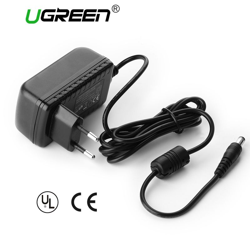 Ugreen AC DC Adapter DC 12V 2A AC 100-240V Converter Adapter Universal Wall Charger Power Supply EU Plug Power Adapter Charger