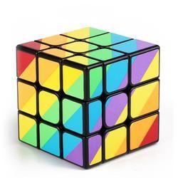 YJ MoYu Cast Dilapisi Yang Tidak Sama 56mm 3x3x3 magic cube Puzzle Kubus Profesional Cubo kubik cubo kub magico Mainan Hadiah