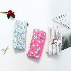 1 Pcs Kawaii Crayon Cas Licorne Flamingo Toile Cadeau Estuches Boîte À Crayons École Pencilcase Sac de Crayon Fournitures Scolaires Papeterie