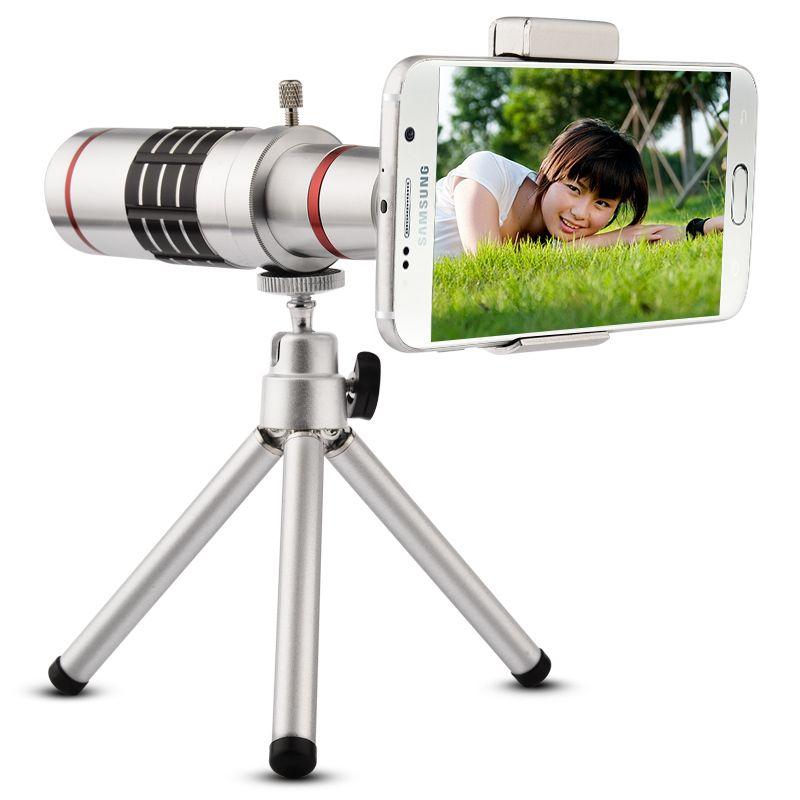 18x Mobile Phone Lens Universal 18X Zoom Telescope Camera Telephoto Lens for iPhone Zoom Telescope Magnifier Optical Lens 18X