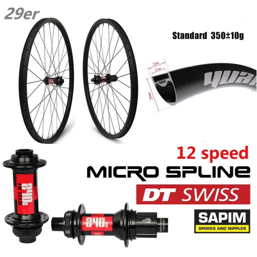29er Carbon MTB Rad XC BIN Laufradsatz Japn Toray Carbon Felge 33mm 29mm mountainbike Felge 350g nur mit 12 Geschwindigkeit DT Schweizer 240 hub