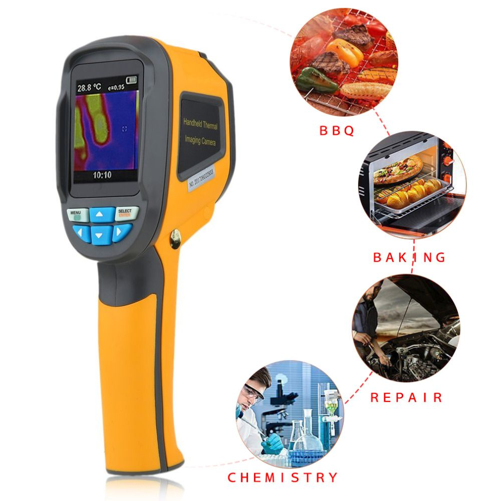 Precision Infrared Thermometer Protable Thermal Imaging Camera Imager HT-02 Thermal Infrared Imager+Secure Digital Memory Card