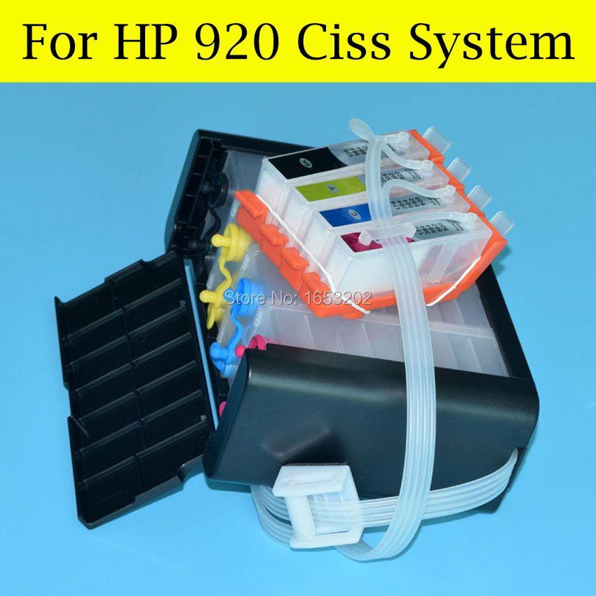 4 couleur/Ensemble Système D'alimentation D'encre En Continu Pour HP 920 Ciss Pour HP Officejet 6000 6500 6500A 7000 7500 7500A Imprimante