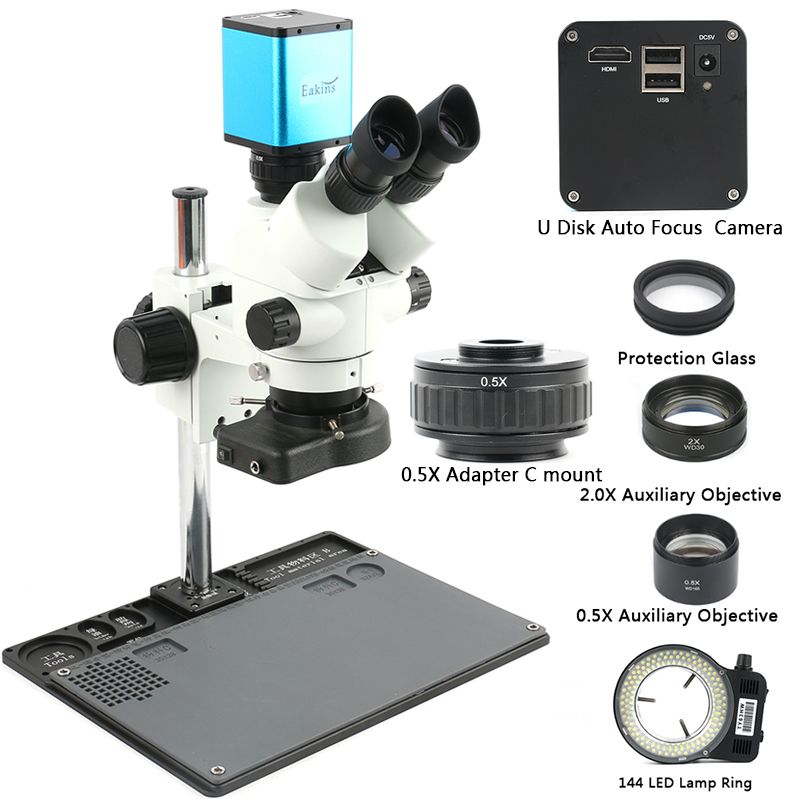 Simul-Brenn Trinocular mikroskop Stereo Mikroskop 3.5X-90X + Auto Focus SONY IMX290 HDMI 1080 P Industrielle C montieren Video Kamera