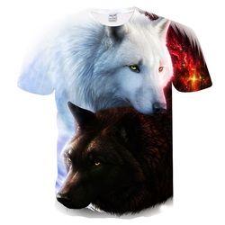 Mr.1991INC 2018 Date Harajuku Loup 3D Imprimer Cool T-shirt Hommes/Femmes À Manches Courtes Été Tops T-shirts T shirt De Mode M-5XL