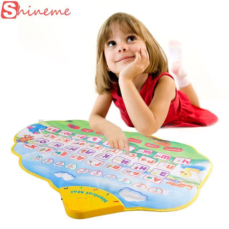 Russe langue alphabet livres musicaux enfants enfants jouer tapis électronique nouveau-né apprentissage éducatif bébé jouets loisirs musique