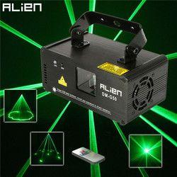 ALIEN удаленный 50 мВт зелёный лазер, прожектор профессиональное сценическое освещение с эффектом DMX 512 Сканер DJ Дискотека вечерние шоу огни