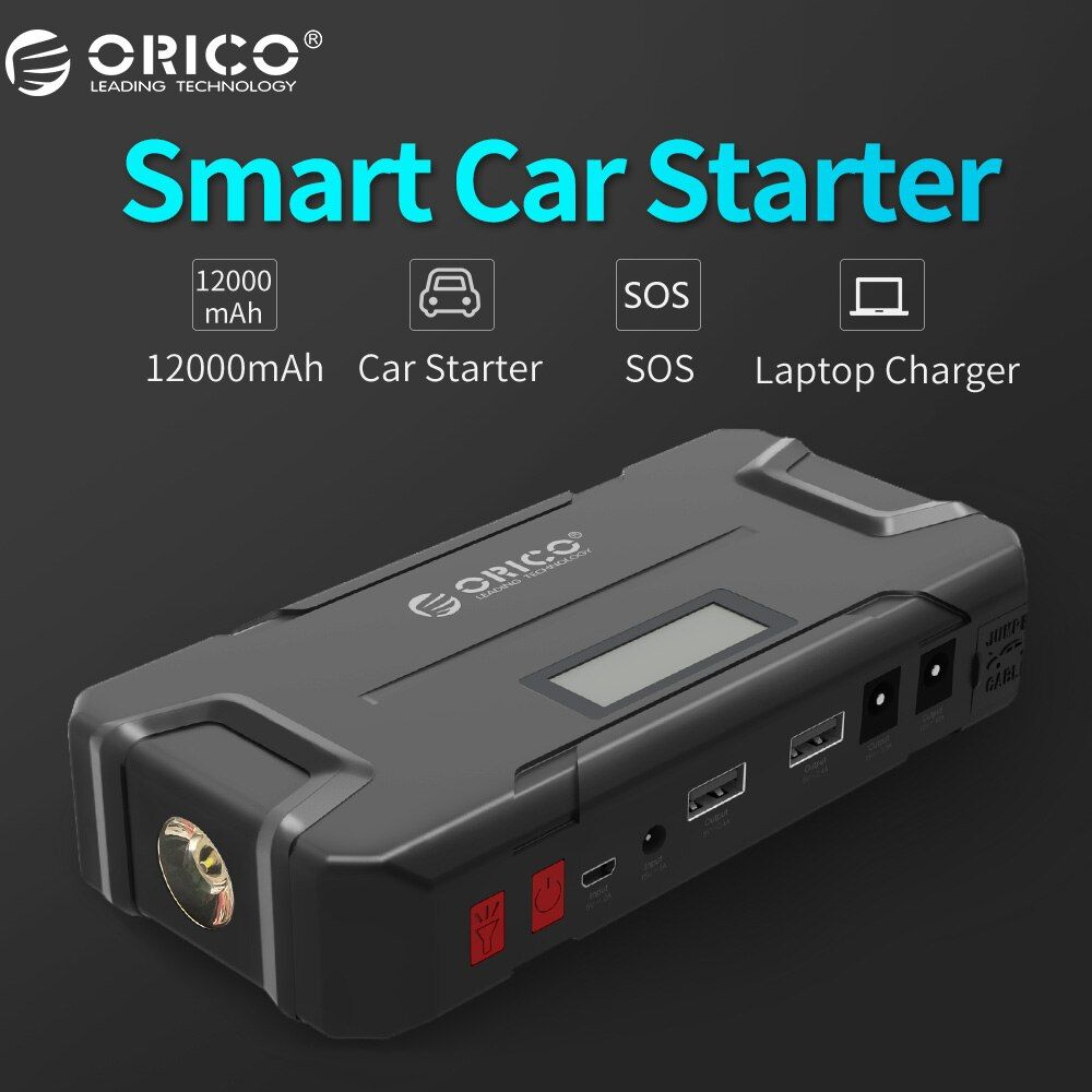 ORICO CS2 12000mAh Mini Vehicel Power Bank Portable Mobile Battery Emergency Booster Buster Power Bank For Phone Laptop Car