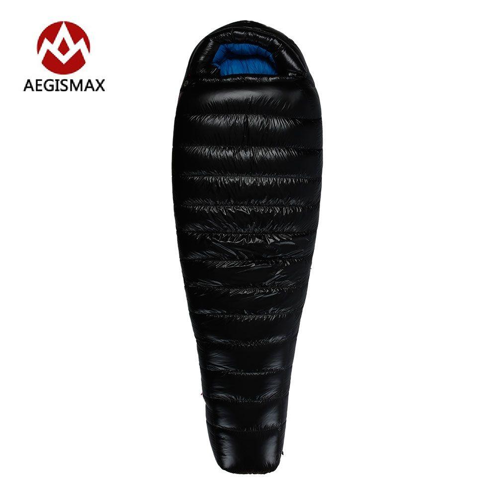 AEGISMAX Winter Gans Unten Schlafsack Splicing Einzel Mummy Kalten Wetter Schlafsäcke G1 G2 G3