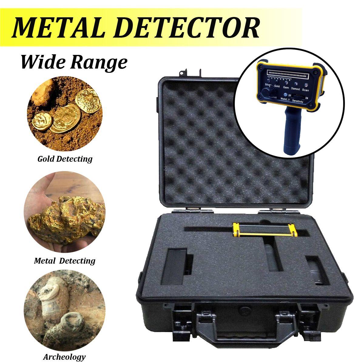 1 satz 1000 mt Metall Detektor maschine MAX 30 mt Tiefe metall Detektor Gold Diamant Silber Ausrüstung mit Wasserdichte Verpackung box