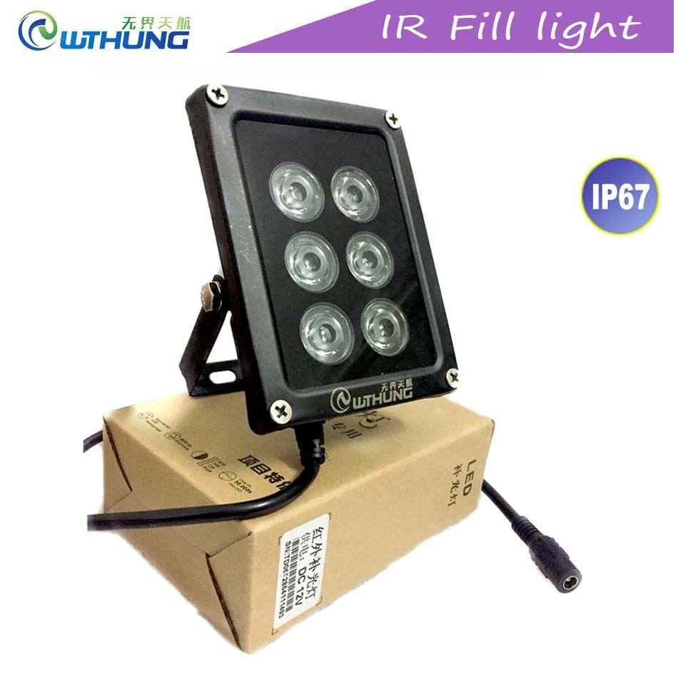 CCTV IR Led illuminator 850nm 6pcs Array infrared Led lamp Light IP67 waterproof Night Vision for Home Security monitor Camera