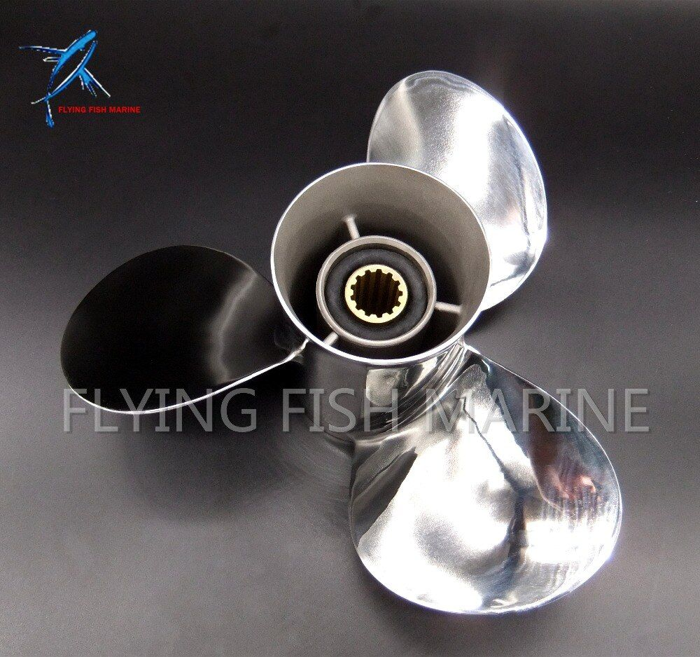 11 1/8x13-G Stainless steel propeller for Yamaha 40hp 50hp Outboard Motor 11 1/8 x 13 -G