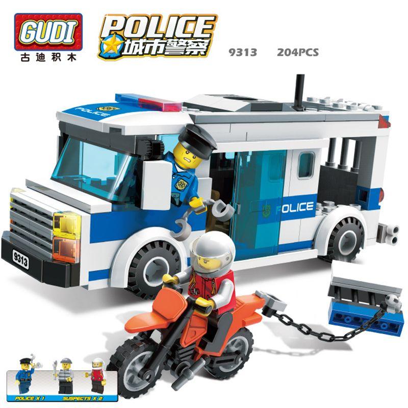 GUDI Ville police Série Éducatifs bricolage Blocs de Construction Enfants Jouet Compatible Avec Legoe D'anniversaire Cadeau Brinquedos pour garçon 9313