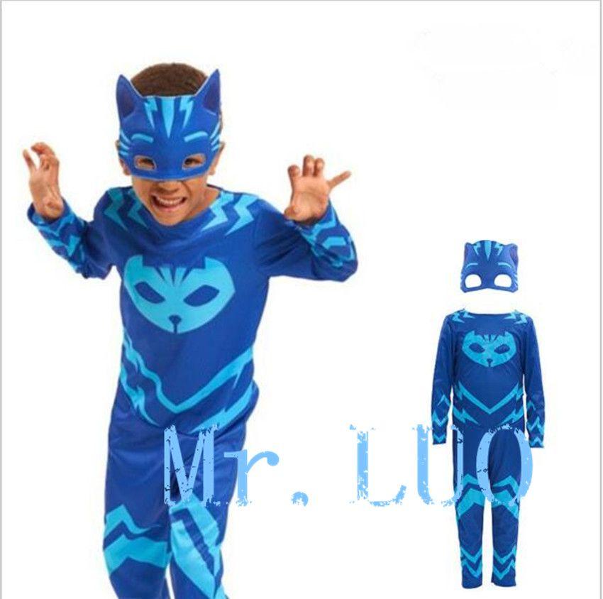 Haute qualité PJ masque hero de enfants cosplay costume et PJ Masques cosplay costume et d'anniversaire parti cosplay costume