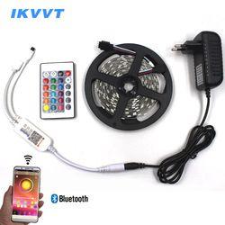 IKVVT 5 m 10 m 15 m 20 m Bluetooth Contrôle LED Lumière de Bande Imperméable À L'eau Flexible Led Bande Diode Ruban + Bluetooth Contrôleur Ensemble Complet