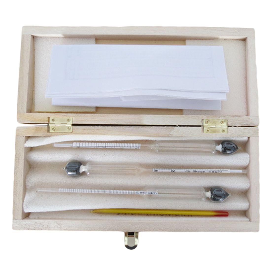 Compteur d'alcool 3 pièces/ensemble compteur d'alcool compteur de Concentration de vin testeur d'hydromètre d'instrument d'alcool