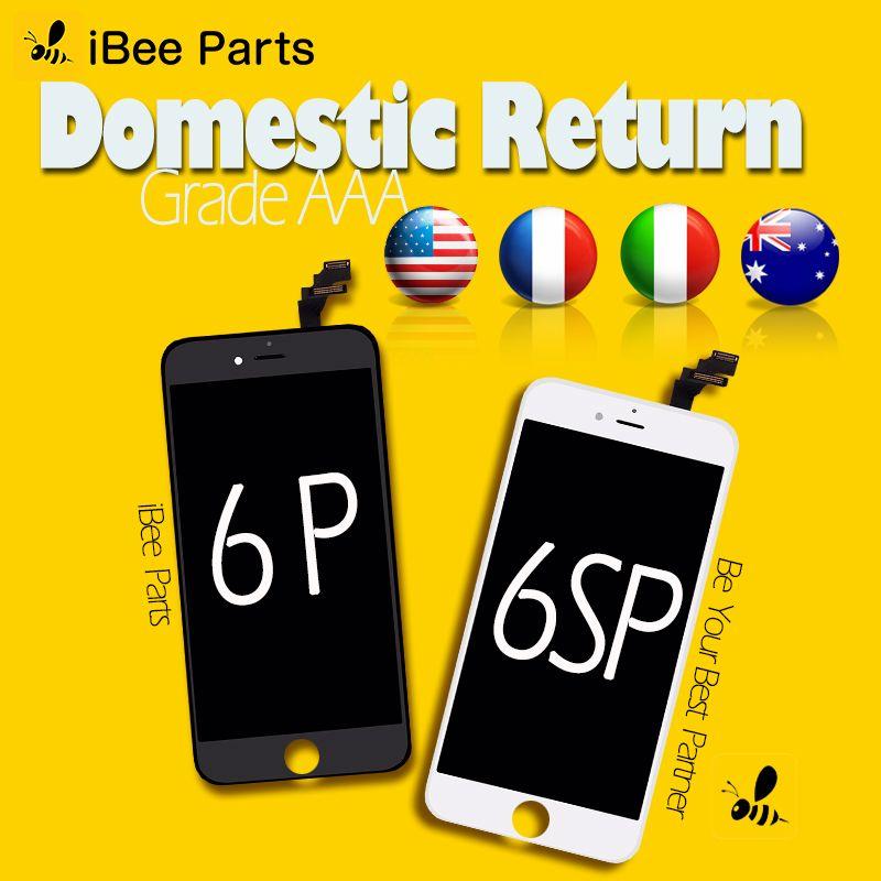 IBee Pièces 10 pcs Grade AAA Top Qualité Pour iPhone 6 Plus 6 s Plus LCD Affichage 3D Tactile Écran digitizer Assemblée Remplacement