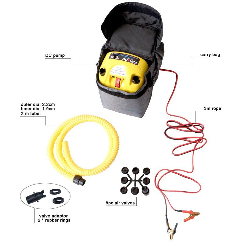 high pressure DC 12V electric air pump for inflatable boat dinghy raft sup surf board stand up paddle kayak canoe C73002