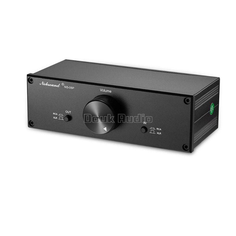 Douk Audio Fully Balanced Passive Preamplifier Pre-Amp XLR/RCA Volume Controller