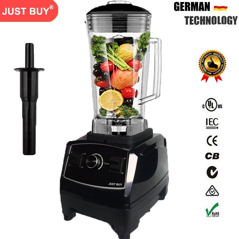 BPA Free 3HP Heavy Duty Commercial Blender Mixer High Power Food Processor Ice Smoothie Bar Fruit Electric Blender