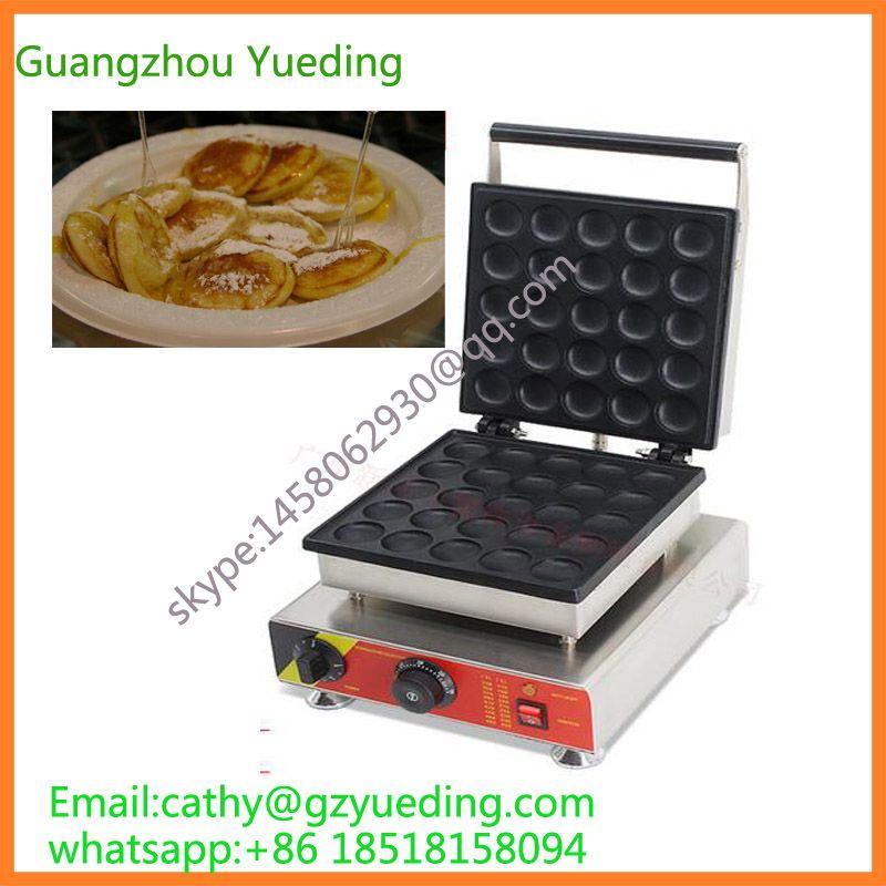 Kommerziellen Poffertjes Elektroherd Poffertjes Maker Maschine 25 Stücke Mini Pfannkuchen Maschine für Verkauf