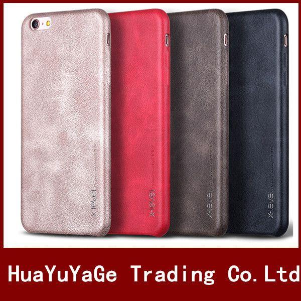 Téléphone Cas PIPILU X-Niveau vintage PU En Cuir ultra mince couverture de cas pour iphone 5 5S SE iphone X 7 7 plus 6 6 s plus 8 Plus