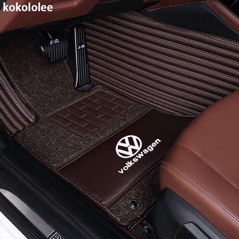 kokololee Custom car floor mats for Volkswagen All Models vw passat b5 6 polo golf tiguan jetta touran touareg car styling auto