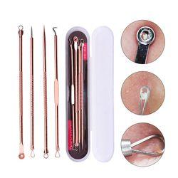 4 PCS Point Noir Extractor de cravo Rose Or Noir Points Cleaner Acné Tache Remover Aiguilles Set Taches Noires Pores Nettoyant outil