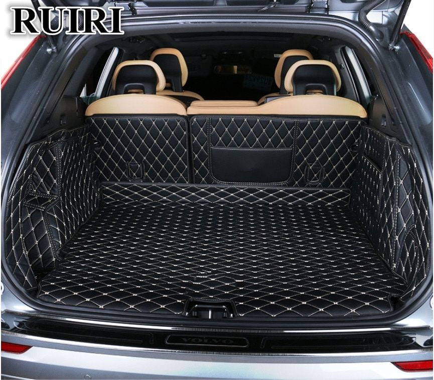 Good quality! Special car trunk mats for New Volvo XC60 2019 durable boot carpets cargo liner mats for XC60 2018,Free shipping