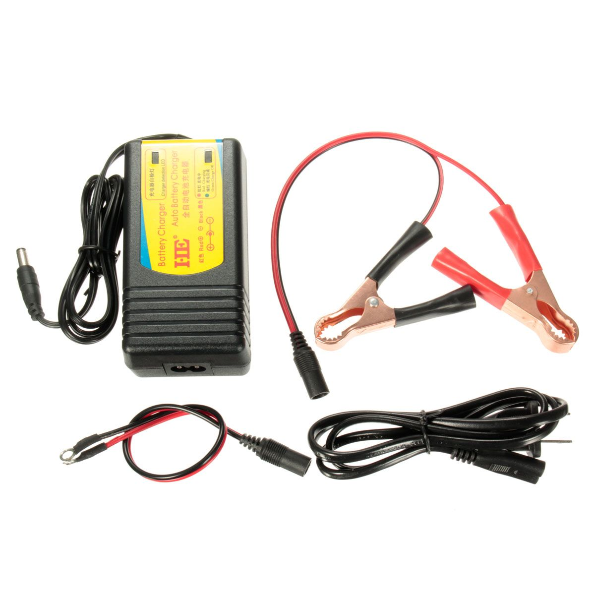12V Trickle Car Boat Motorcycle RVs Digital Automatic Battery Float Charger