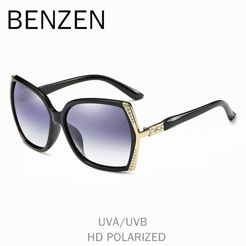 BENZEN Polarized Sunglasses Women Luxury Rhinestone Female Sun Glasses For Driving UV 400 Ladies Shades With Case 6570