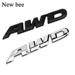 Newbee 3D Styling Mobil Chrome Logam Sticker Emblem Lencana Belakang AWD Decal Logo untuk Toyota Honda Subaru Impreza 4X4 Off Road SUV 4WD