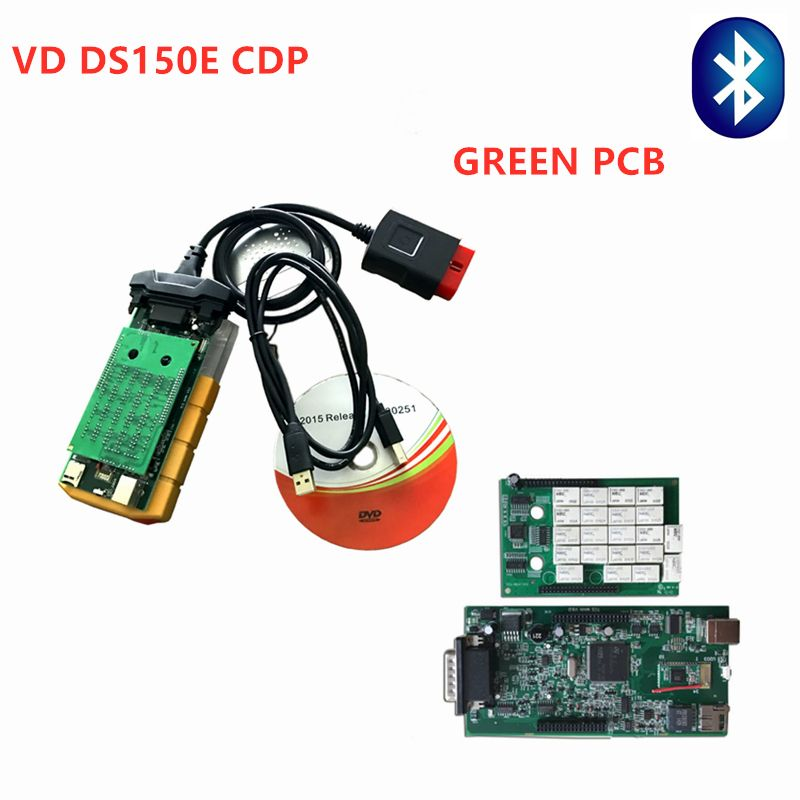 DHL Free ! 5pc VD DS150E CDP for delphi automotive car and truck OBD2 Scan Key programmer 2016.0 Multi-language diagnostic tools