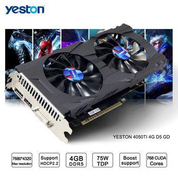 Yeston GeForce GTX 1050Ti GPU ГБ GDDR5 128 бит игровой Настольный компьютер PC Поддержка видео видеокарты Ti