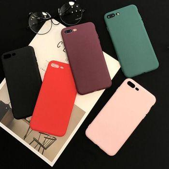 Bonbons Couleurs Noir Rose Rouge Vin Vert Souple En Silicone Phone Case Cover Fundas Coque Pour iphone 6 S 7 7 Plus 6 S 6 Plus 8 8 Plus X