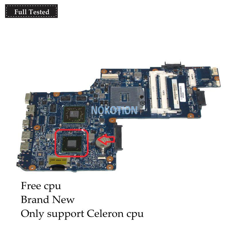 NOKOTION Marke Neue H000052620 Für toshiba satellite C850 L850 c855 Laptop motherboard HM70 SJTNV Radeon HD 7610 mt Grafiken