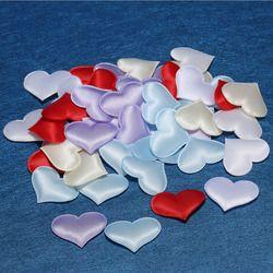 50 pcs Jantung Kain 3.2 cm Meja Confetti Pesta Pernikahan Dekorasi Festival Ornamen Aksesoris ulang tahun Dekorasi Persediaan