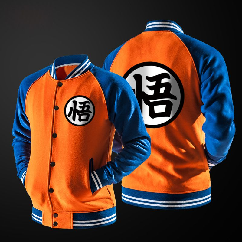 New Japanese Anime Dragon Ball Goku Varsity Jacket Autumn Casual Sweatshirt Hoodie Coat Jacket Brand Baseball Jacket