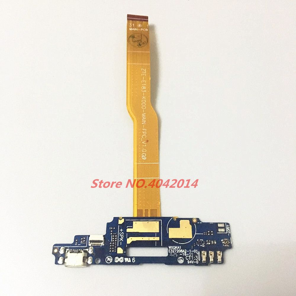 Original USB Charging port Board Dock module+ Microphone Connector Flex cable For ZTE Blade A610 BA610 BA610T/C Replacement