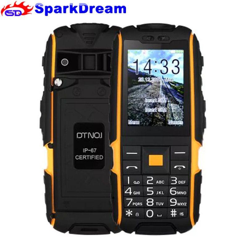 DTNO.I A9 2.4 Phone Power Bank Dual SIM Card Flashlight Big Speaker 2.4 Inch Rugged Waterproof Phone (FreeAdd Russian Keyboard)
