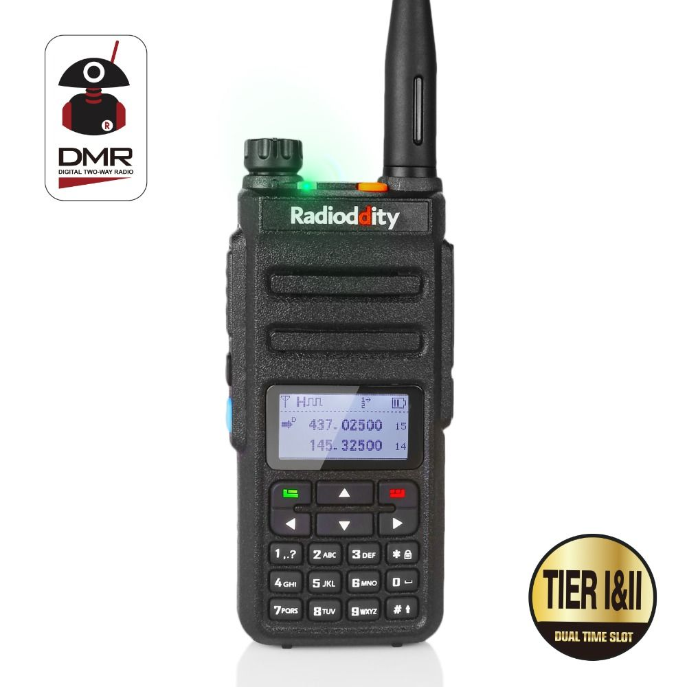 Radioddity GD-77 Dual Band Dual Time Slot DMR Digital/Analog Two Way Radio 136-174 /400-470MHz 1024 Channels Ham Walkie Talkie