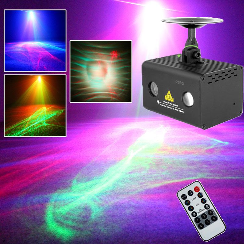 Music Center Disco Laser Lights RGB LED Party Lighting Night Club Atmosphere Lights Aurora Water Wave Effect Fit for Fog Machine