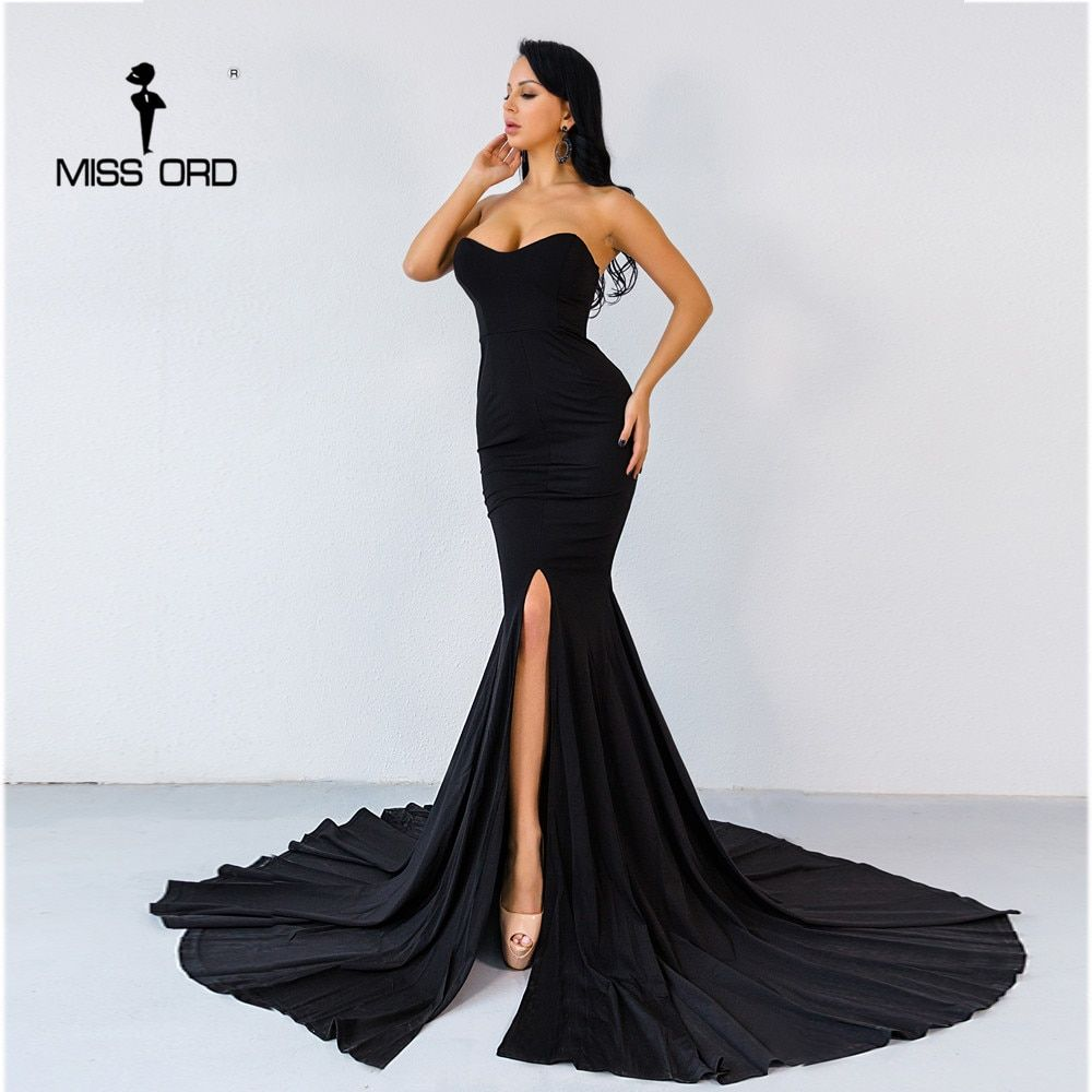 Missord 2018 Sexy wrapped chest asymmetric maxi dress party dress FT1683