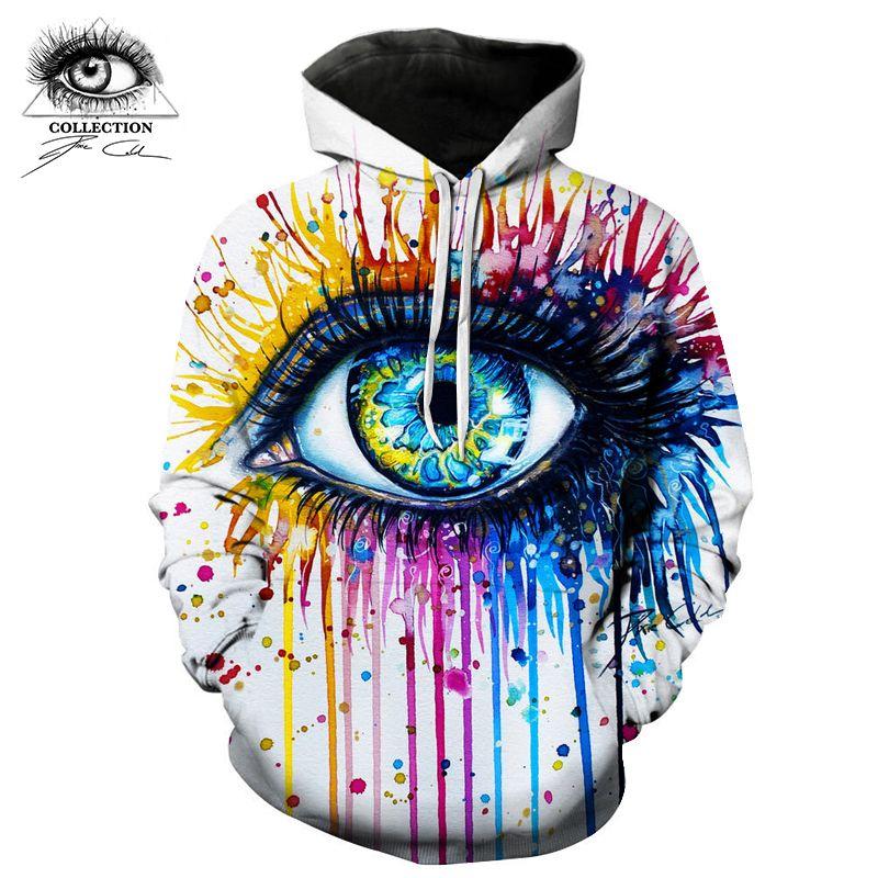 Rainbow eye By Pixie cold art Hoodies 3D Sweatshirts Men Women Tracksuits Fashion Hoodies Brand Hoody Streetwear New ZOOTOP BEAR